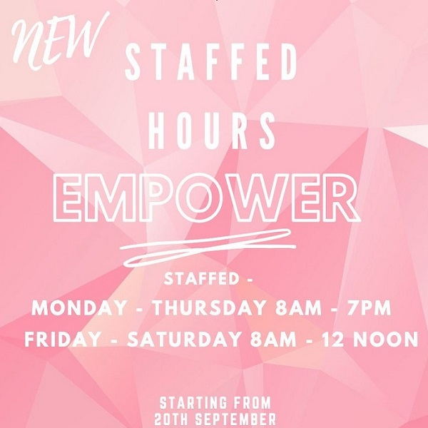 New Staffed Hours & 24/7 Access